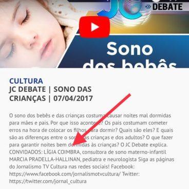Ligia Coimbra na TV Cultura