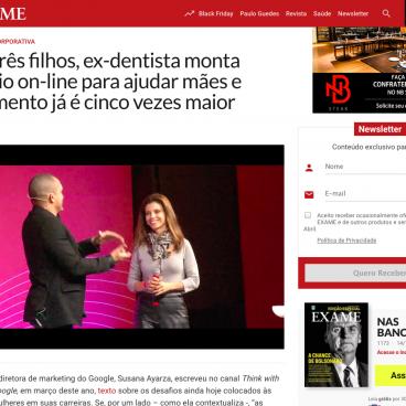 Ligia Coimbra no site da Exame